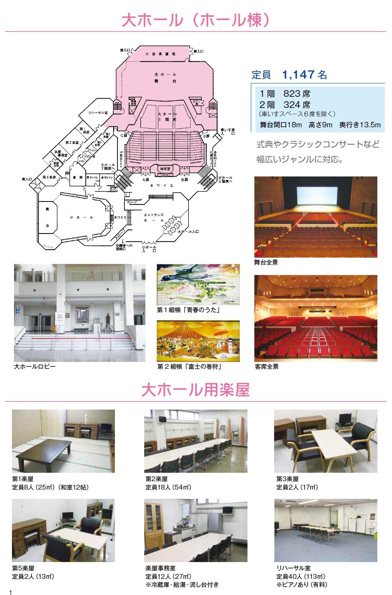大ホール-楽屋